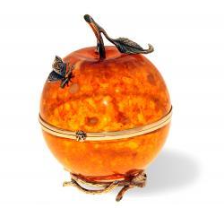 Шкатулка из янтаря Райское яблочко