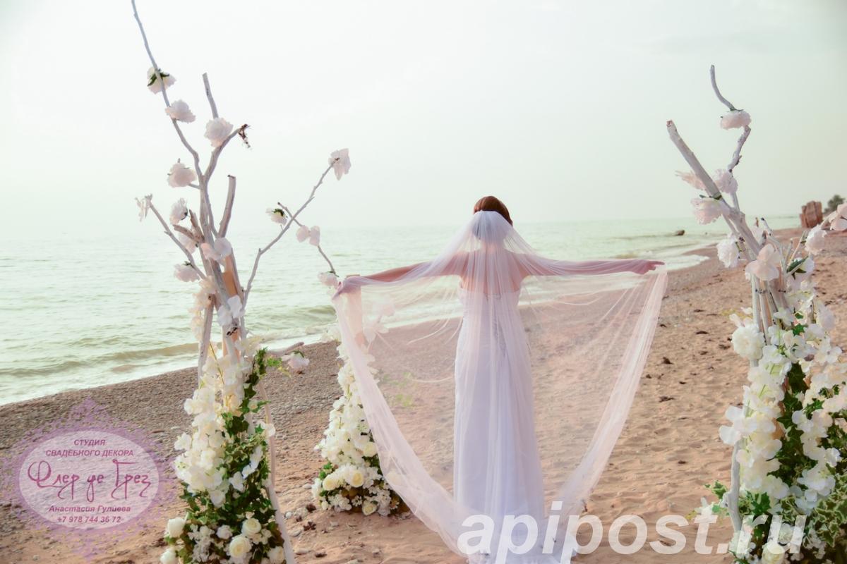 Оформление выездной церемонии на берегу Чёрного моря - СЕВАСТОПОЛЬ