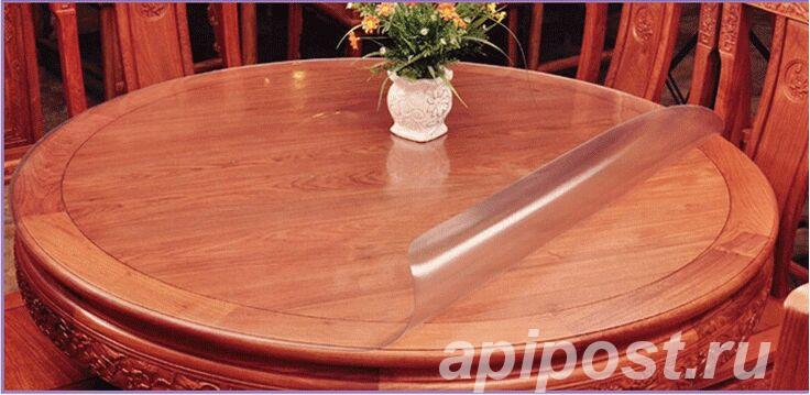 Накладка круглая прозрачная - МОСКВА