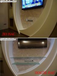 Полки навесные в ванную, шкаф, над стиральной машиной.
