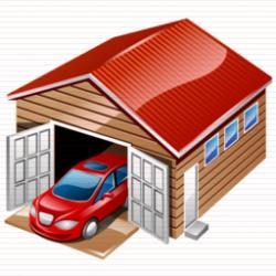 Ремонт гаража , установка двери в воротах