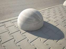 Бетонная полусфера d500хh250 мм. парковочный ограничитель