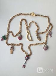 Бижутерия цепь swarovski украшение подвески кулоны