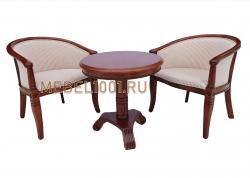 Чайная группа А-10. Чайные кресла из дерева и круглый столик
