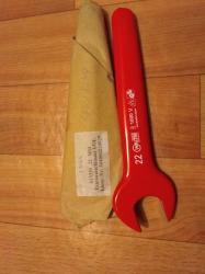 Рожковый односторонний ключ полностью изолированный 22 мм