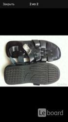 Сандалии новые мужские кожа черные 45 44 размер