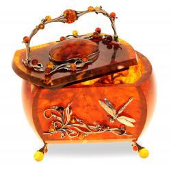 Шкатулка Лето из балтийского янтаря