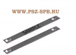 Бирка кабельная стальная МБC 316 89х10 с лазерной ...