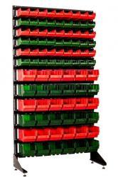 Стеллаж и ящики для запчастей и крепежных материалов