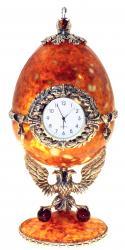 Часы-шкатулка из янтаря
