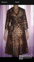 Плащ новый dolce gabbana италия 46 м размер леопард...