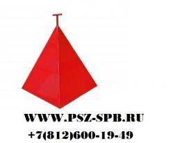 Пирамида для пожарного гидранта 700х700х800 производство