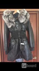 Пуховик куртка новая fashion furs италия 44 46 s m кожа