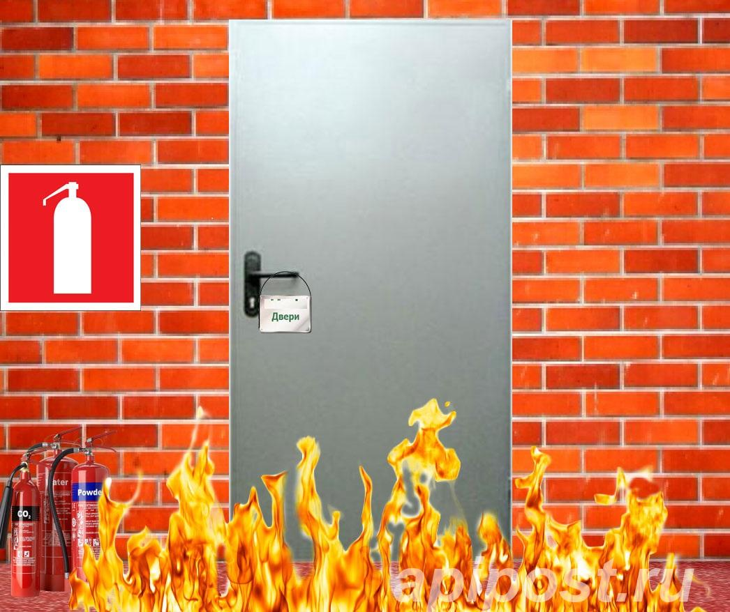 Двери противопожарные глухие со стеклом, одностворчатые - ПЕНЗА
