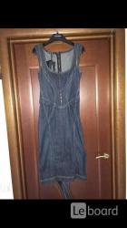 Платье новое dolce gabbana италия s 42 44 джинсовый сарафан