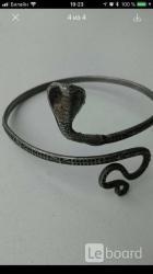 Браслет на руку кобра змея клеопатра бижутерия украшения