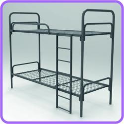 Одноярусные кровати металлические для рабочих бригад