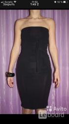 Платье peg италия м 46 чёрное новое футляр сарафан