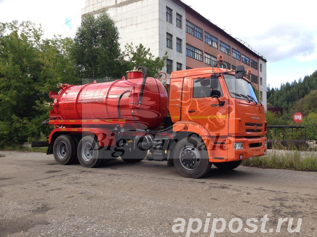 Вакуумная машина АКН-10ОД на шасси КАМАЗ 65115 - НОВОСИБИРСК