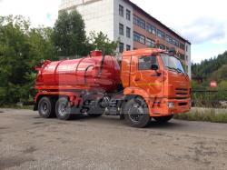 Вакуумная машина АКН-10ОД на шасси КАМАЗ 65115