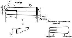 Штифт ГОСТ 19119-80 конический