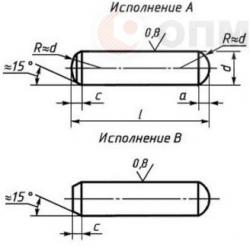 Штифт ГОСТ 24296-93 цилиндрический