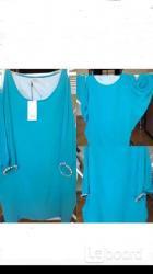 Платье новое ella luna италия м 46 шёлк голубое летучая
