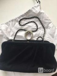 Клатч сумка moschino италия новая оригинал черная замша