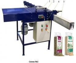 Оборудование установка, машина для упаковки сена и опилок