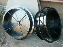 Осевые направляющие аппараты для дымососов и вентиляторов.