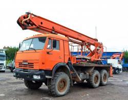 Автоподъемник АПТ-28 на базе КамАЗ-43114