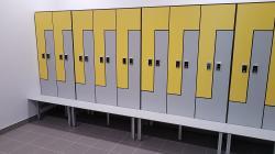 Мебель секционная шкафчики HPL для отелей и бассейнов