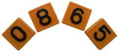 Номерной блок для ремней от 0 до 9 желтый