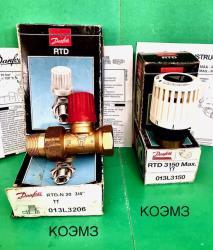 Радиаторный терморегулятор Danfoss RTD 3150 Max и RTD-N...