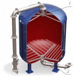 Дренажные системы ДРУ щелевого типа для фильтров ФИПа, ФОВ