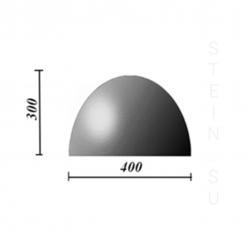Бетонная полусфера d400хh300 мм. парковочный ограничитель