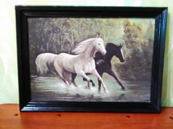 Картина Пара лошадей .