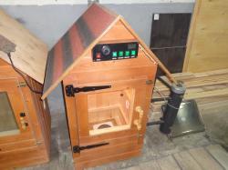 Деревянная коптильня домиком