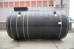 Резервуар горизонтальный стальной подземный утепленный