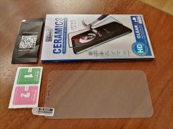 Защитное стекло для смартфона, противоударное.